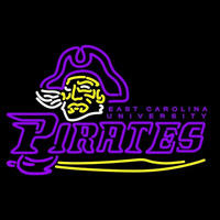 East Carolina Pirates Primary 1999 2003 Pres Logo NCAA Neon Sign Neon Sign