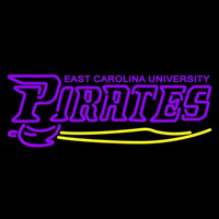 East Carolina Pirates Wordmark 1999 Pres Logo NCAA Neon Sign Neon Sign