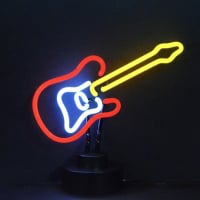 Electric Guitar Desktop Neon Sign