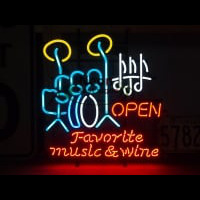 FAVORITE MUSIC WINE Neon Sign