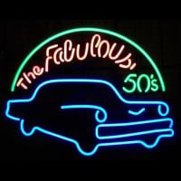 Fabulous 50S For Garage Man Cave Wall Art Neon Sign