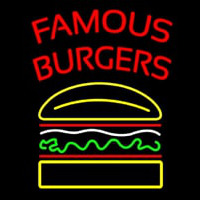 Famous Burgers Neon Sign
