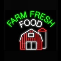 Farm Fresh Food Neon Sign