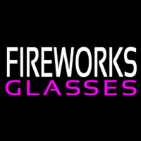 Fire Work Glasses Neon Sign