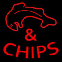 Fish And Chips Red Neon Sign