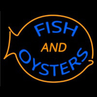 Fish And Oysters Neon Sign