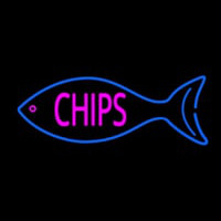 Fish Logo Chips Neon Sign