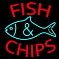 Fish Logo Fish And Chips Neon Sign