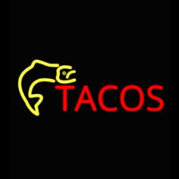 Fish Tacos Catering Neon Sign