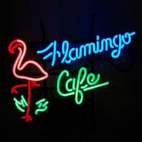 Flamingo Cafe Shop Neon Sign