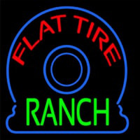 Flat Tire Ranch Neon Sign