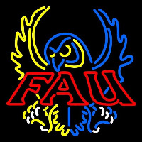 Florida Atlantic Owls Primary 1994 2004 Ogo NCAA Neon Sign Neon Sign