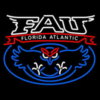 Florida Atlantic Owls Secondary 2005 Pres Logo NCAA Neon Sign Neon Sign
