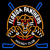 Florida Panthers Alternate 1993 94 2008 09 Logo NHL Neon Sign Neon Sign