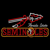 Florida State Seminoles Wordmark 0 Pres Logo NCAA Neon Sign Neon Sign