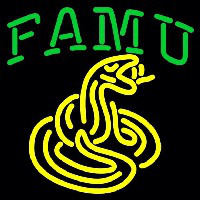 Florida a and M Rattlers Primary 0 Pres Logo NCAA Neon Sign Neon Sign