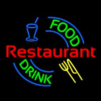 Food And Drink Restaurant Logo Neon Sign