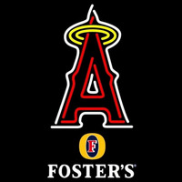 Fosters Anaheim Angels MLB Beer Sign Neon Sign