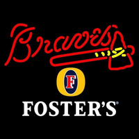 Fosters Atlanta Braves MLB Beer Sign Neon Sign