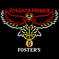Fosters Atlanta Hawks NBA Beer Sign Neon Sign