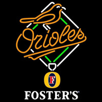 Fosters Baltimore Orioles MLB Beer Sign Neon Sign