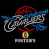 Fosters Cleveland Cavaliers NBA Beer Sign Neon Sign