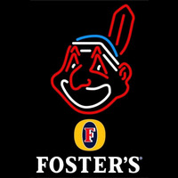 Fosters Cleveland Indians MLB Beer Sign Neon Sign