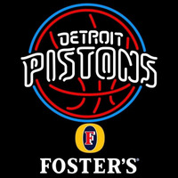 Fosters Detroit Pistons NBA Beer Sign Neon Sign