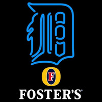 Fosters Detroit Tigers MLB Beer Sign Neon Sign