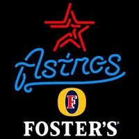 Fosters Houston Astros MLB Beer Sign Neon Sign