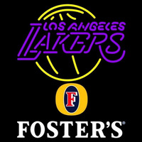 Fosters Los Angeles Lakers NBA Beer Sign Neon Sign