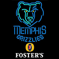Fosters Memphis Grizzlies NBA Beer Sign Neon Sign