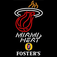 Fosters Miami Heat NBA Beer Sign Neon Sign