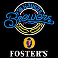 Fosters Milwaukee Brewers MLB Beer Sign Neon Sign