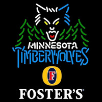Fosters Minnesota Timberwolves NBA Beer Sign Neon Sign