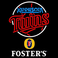 Fosters Minnesota Twins MLB Beer Sign Neon Sign