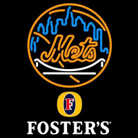 Fosters New York Mets MLB Beer Sign Neon Sign