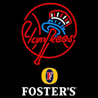 Fosters New York Yankees MLB Beer Sign Neon Sign