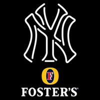 Fosters New York Yankees White MLB Beer Sign Neon Sign