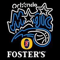 Fosters Orlando Magic NBA Beer Sign Neon Sign