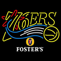 Fosters Philadelphia 76ers NBA Beer Sign Neon Sign