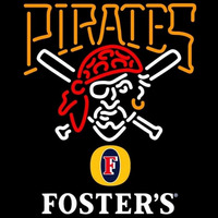 Fosters Pittsburgh Pirates MLB Beer Sign Neon Sign