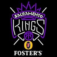 Fosters Sacramento Kings NBA Beer Sign Neon Sign