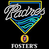 Fosters San Diego Padres MLB Beer Sign Neon Sign