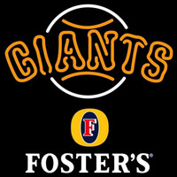 Fosters San Francisco Giants MLB Beer Sign Neon Sign