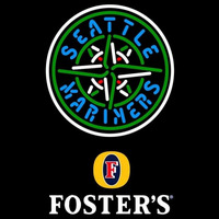Fosters Seattle Mariners MLB Beer Sign Neon Sign