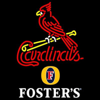 Fosters St Louis Cardinals MLB Beer Sign Neon Sign