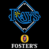 Fosters Tampa Bay Rays MLB Beer Sign Neon Sign