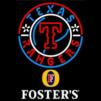 Fosters Texas Rangers MLB Beer Sign Neon Sign