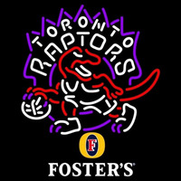 Fosters Toronto Raptors NBA Beer Sign Neon Sign